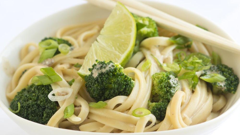 Creamy Mushroom Miso Pasta with Broccoli