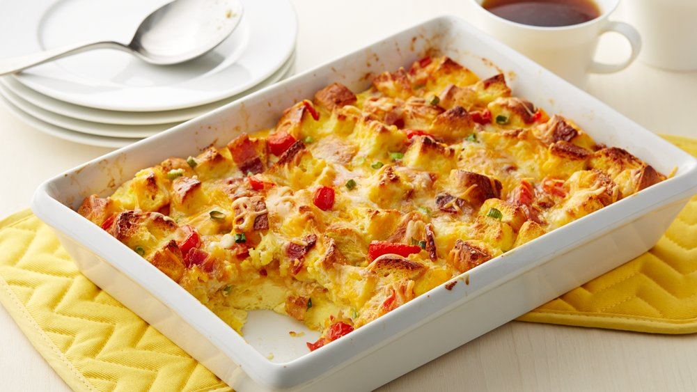 Bacon, Egg and Cheese Bubble-Up Bake