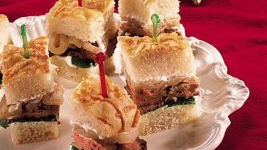 Beef Tenderloin and Caramelized Onion Sandwiches