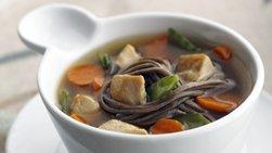 Skinny Ginger Chicken Noodle Soup