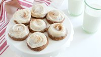 Applesauce Spice Cookies with Browned Butter-Cream Cheese Frosting