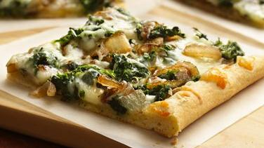 Spinach and Caramelized Onion Pizza
