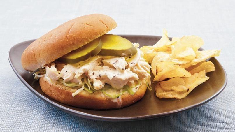 White Barbecue Chicken Sandwiches