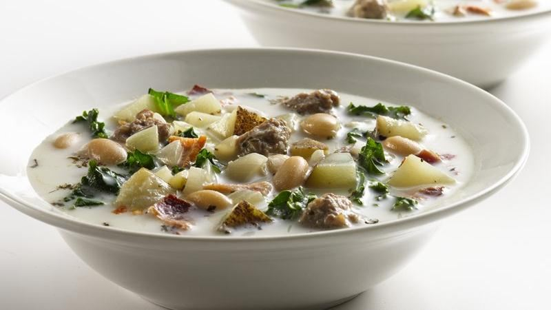 Healthified Italian Sausage Soup recipe from Betty Crocker