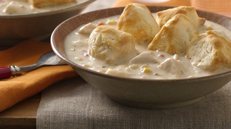 Chicken Chowder with Biscuit Dunkers for Two