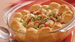 Hot Turkey Salad with Rosemary Biscuits