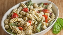 Yogurt Pesto Pasta Salad