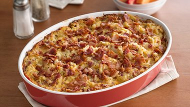 Ham and Hash Brown Breakfast Bake