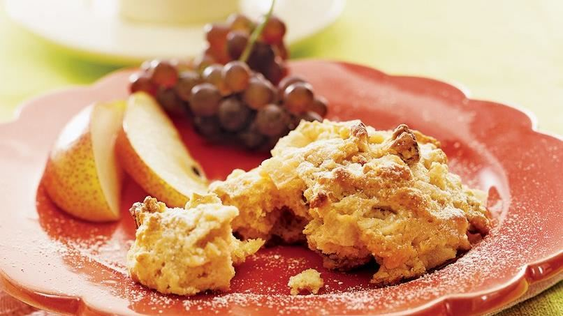Pear-Nut Scones