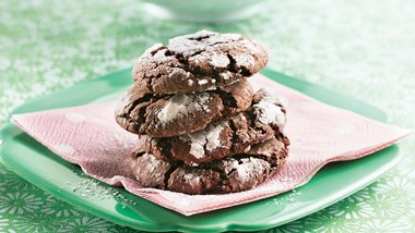 Cake Mix Fudge Crinkle Cookies