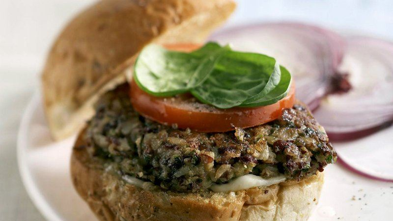 Rice and Bean Burgers recipe from Betty Crocker