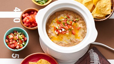 Slow-Cooker 3-Ingredient Bean Dip
