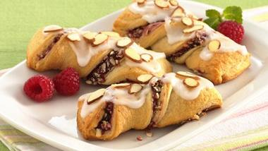Raspberry Crescent Twists