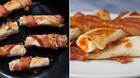 Bacon-Wrapped Grilled Cheese Roll-Ups