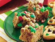 Holiday Chocolate Cereal Bars
