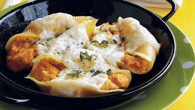 Pumpkin Parmesan Stuffed Shells