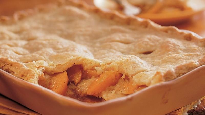 Triple-Crust Peach Cobbler