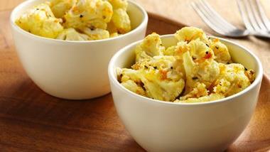 Roasted Cauliflower with Asiago and Orange