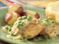 Spring Chicken with Peas and Onions