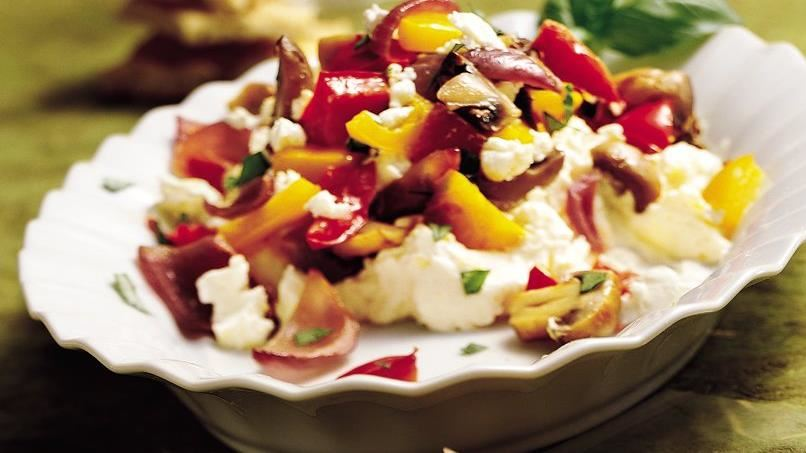 Layered Vegetable and Aioli Appetizer