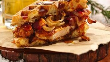 Mantastic Fried Chicken and Waffle Sandwich
