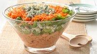 Layered Buffalo Chicken Salad