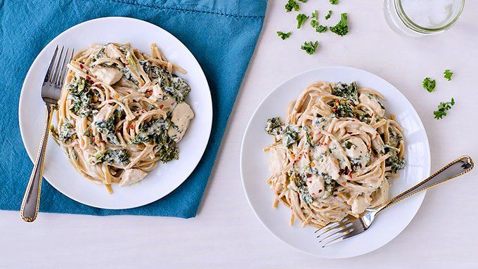 Slow-Cooker Kale and Chicken Fettuccine Alfredo recipe - from ...
