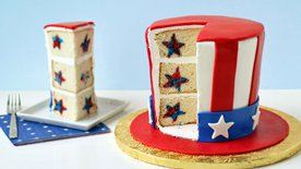 Uncle Sam Reveal Cake