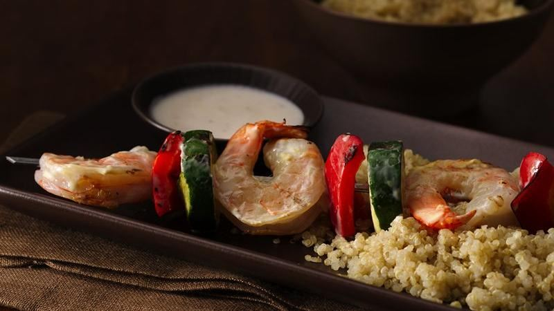 Lemon Basil Shrimp Skewers