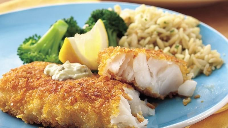 Corn Flake-Crusted Fish Fillets with Dilled Tartar Sauce recipe from ...