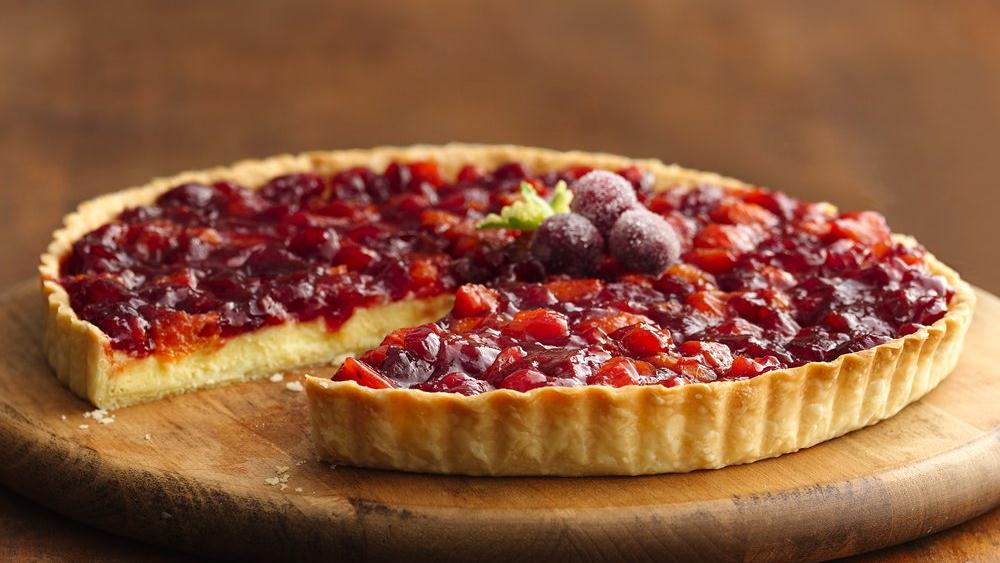 Jeweled Cranberry-Apricot Tart