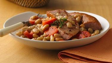 Braised Sausage and Beans