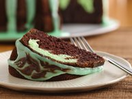 Chocolate-Mint Swirl Cake