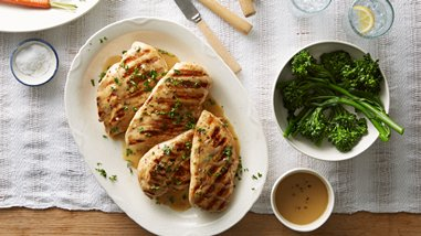 Grilled Chicken Breasts with Mustard-Garlic Marinade and Sauce