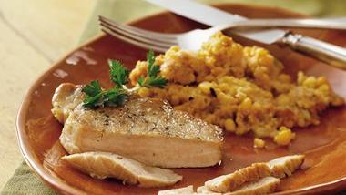 Slow-Cooker Pork Chops with Corn Stuffing