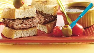 Grilled French Dip Burgers