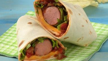 Grilled Salsa Hot Dog Wraps