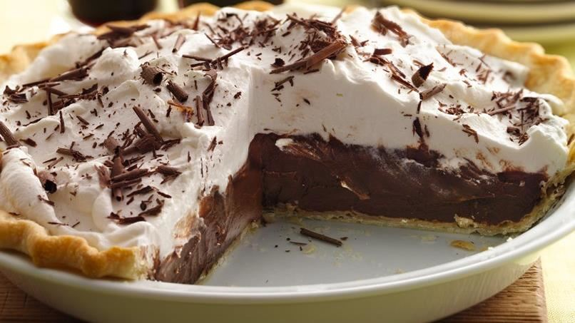 Dark Chocolate Stout Cream Pie
