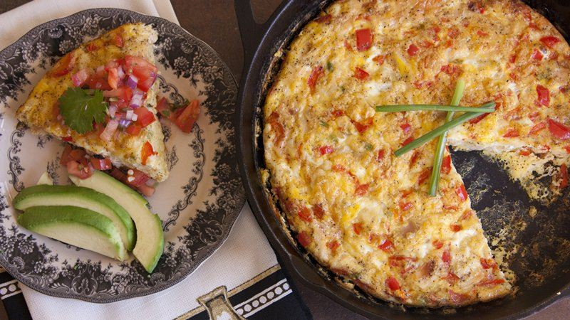 Chicken Frittata with Tomato Salsa