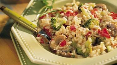 Red Pepper and Broccoli Risotto