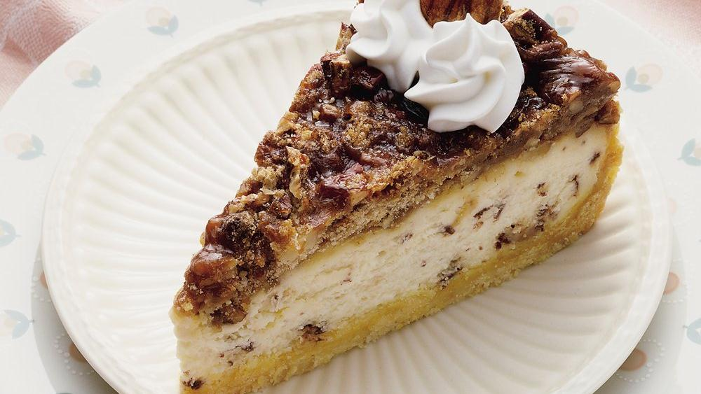 Praline Pecan Cheesecake recipe from Pillsbury.com