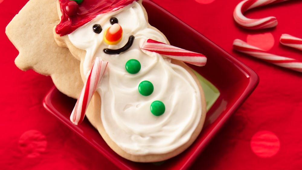 Frosted Snowman Cookies