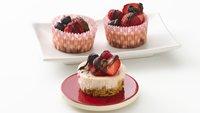 Skinny Triple-Berry Mini Cheesecakes