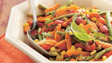 Gluten-Free Roasted Vegetables with Basil