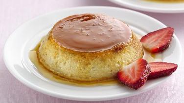 Lactose Free Strawberry Flans