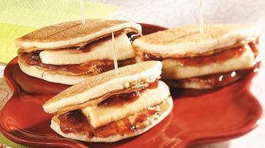 Banana-Peanut Butter Pancake Wraps