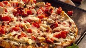 Chicken-Pesto Pizza