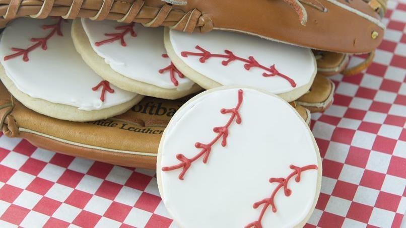 Easy Iced Homerun Cookies