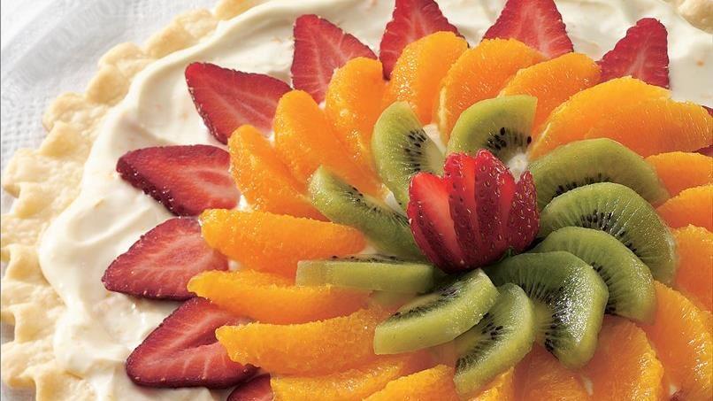 Easy Fresh Fruit Dessert Pizza