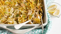 Creamy Lemon Chicken Pasta Bake